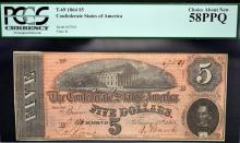 1864 $5 T-69 CSA Richmond, VA PCGS CAN 58 PPQ