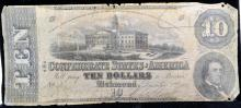 1862 $10 Confederate States America Richmond Fair