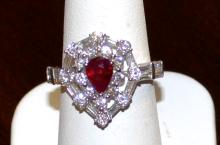 18kwg Ruby & Diamond Ring