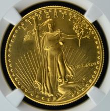1986 $25 American Gold Eagle NGC MS 69