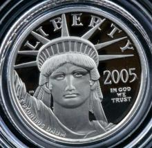 2005 W $10 American Platinum Eagle Proof Coin+B&P