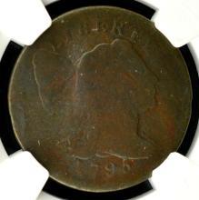 1795 Plain Edge Liberty Cap Large Cent NGC AG 3 BN