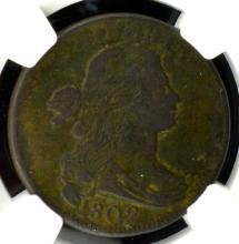 1802 Draped Bust Large Cent NGC VF Details E/D