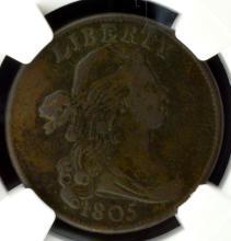 1805 Draped Bust Large Cent NGC VF Details E/D
