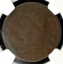 1809 Classic Head Large Cent NGC VG Details E/D