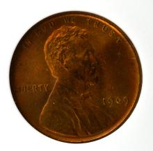1909 VDB Lincoln Cent ANACS MS 67 RB