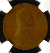 1909 S Lincoln Cent NGC VG 8 BN