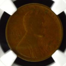 1909 S Lincoln Cent NGC F 15 BN