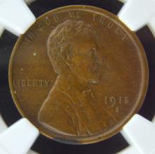 1915 S Lincoln Cent NGC MS 62 BN