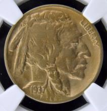 1937 D 3 Legs Buffalo Nickel NGC VF Details