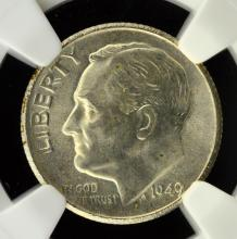 1949 S Roosevelt Dime NGC MS 66