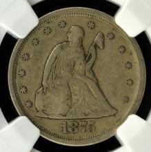 1875-S Liberty Seated Twenty Cent Piece NGC VF 25