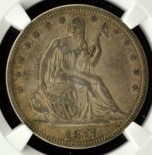 1877 Liberty Seated Half Dollar NGC XF Details