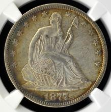 1877 Liberty Seated Half Dollar NGC AU Details I/C