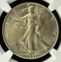 1937 Liberty Walking Half Dollar NGC MS 63