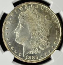 1883-CC Morgan Silver Dollar NGC MS 64