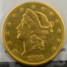 1900 S $20 Liberty Head Gold Double Eagle XF
