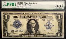 1923 $1 Silver Certificate Lg. Note PMG AU 55 EPQ