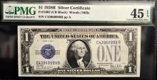 1928 B $1 Silver Certificate Note PMG CEF 45 EPQ