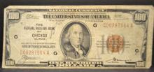 1929 $100 Federal Reserve Bank of Chicago, IL VG
