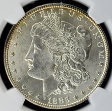 1883 Morgan Silver Dollar NGC MS 63