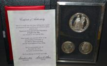 3 Medals Of Royal Silver Wedding Anniversary