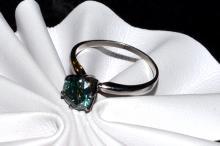 Platinum Blue Diamond Ring 1.06ct
