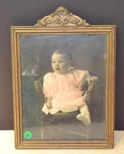pair of antique photo's & frames
