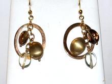 14kyg Quartz & Aquamarine Earrings By Nancy B