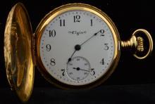 Ladies 1904 Yellow Gold 14k Elgin Pocket Watch