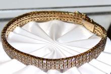 14kyg Diamond Bracelet 5ctw