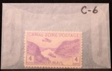 Deluxe Mint Block File Album w/Canal Zone Stamps