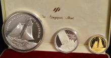 1987 Australia America's Cup Gold & Silver 3 Coins