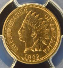 1863 Indian Head Cent PCGS MS 64