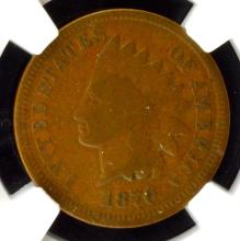 1870 Indian Head Cent NGC VG 10 BN