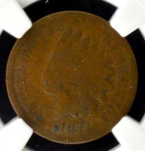 1871 Indian Head Cent NGC G 4 BN