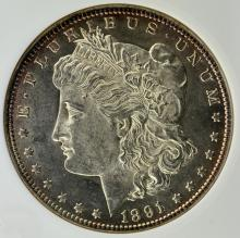 1891 Morgan Silver Dollar ANACS MS 62 - Old Holder