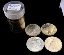 1922 Peace Silver Dollar 20 Piece BU Roll