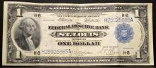 1918 $1 Federal Reserve Bank of St. Louis MO XF 40