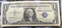 1957 B 90 $1 Silver Certif. Blue Seal Crisp UNC
