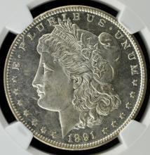 1891 CC Top 100 Morgan Silver $1 VAM-3 NGC MS63 PL