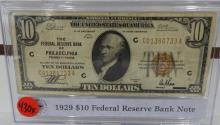 1929 $10.00 National Currency Small Size