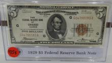 1929 $5.00 National Currency Small Size