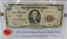 1929 $100.00 National Currency Small Size