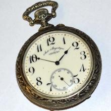 Antique Doxa Open Faced Hunter Pocket Watch