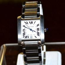 Man's Stainless Cartier Tank Francaise Watch