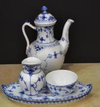 5 pc Royal Copenhagen Blue Fluted dishware