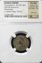 ANCIENT ROMAN COIN NGC Ch AU