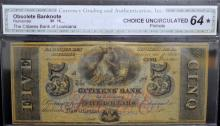 18?? $5 Citizens Bank of LA New Orleans CGA CU 64*