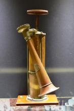 ANTIQUE Kockums Brass TYFON Boat Horn